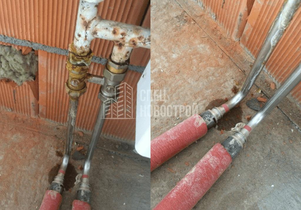 Течи в резьбовых соединениях у радиаторов отопления