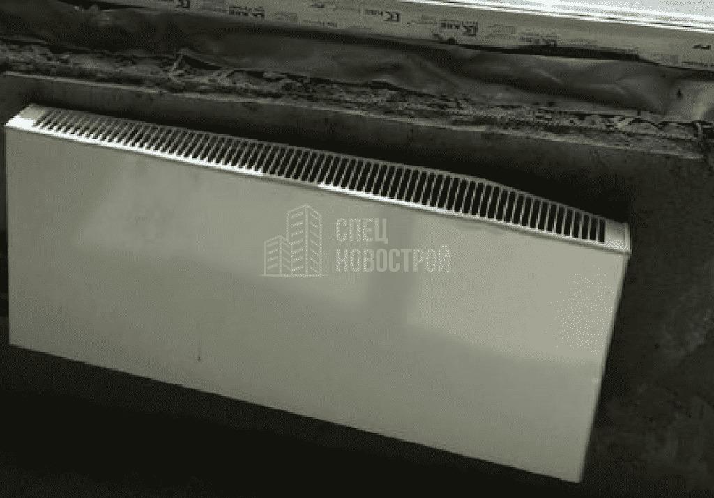 Замятие короба радиатора отопления