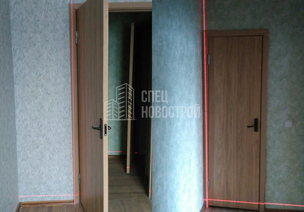 Отклонение дверных коробок по вертикали (более 20 мм)