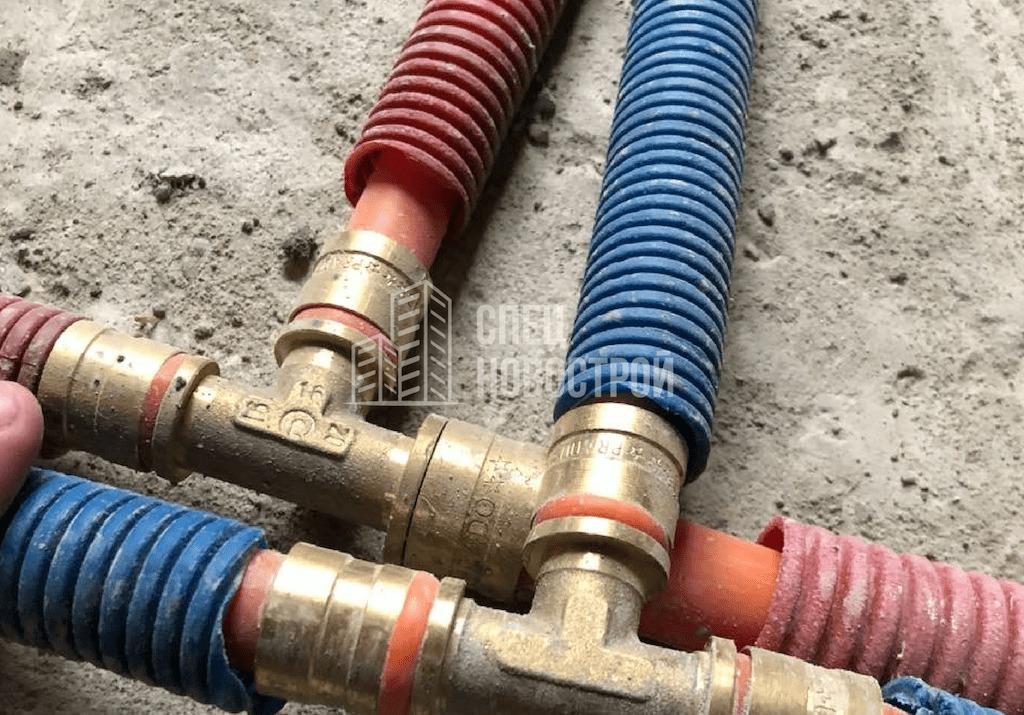 Некачественно выполнена опрессовка всех соединений труб отопления