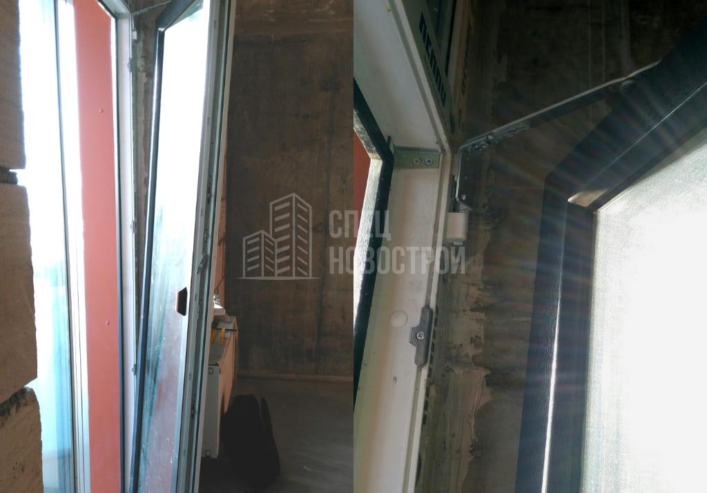 требуется регулировка балконной двери