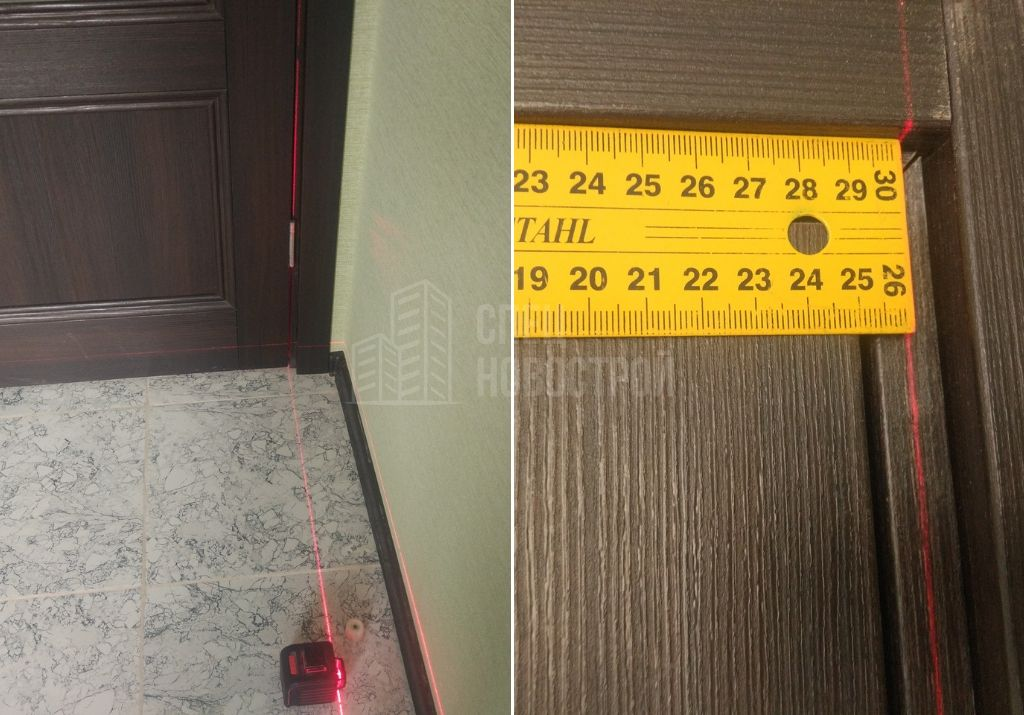 отклонение межкомнатных дверей от вертикали 10 мм