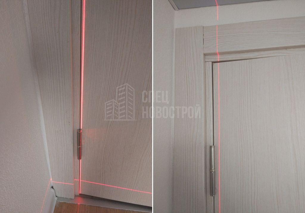 отклонение межкомнатных дверей от вертикали