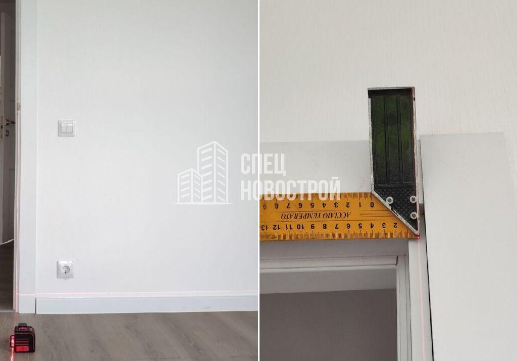 отклонение дверной коробки от вертикали 10 мм