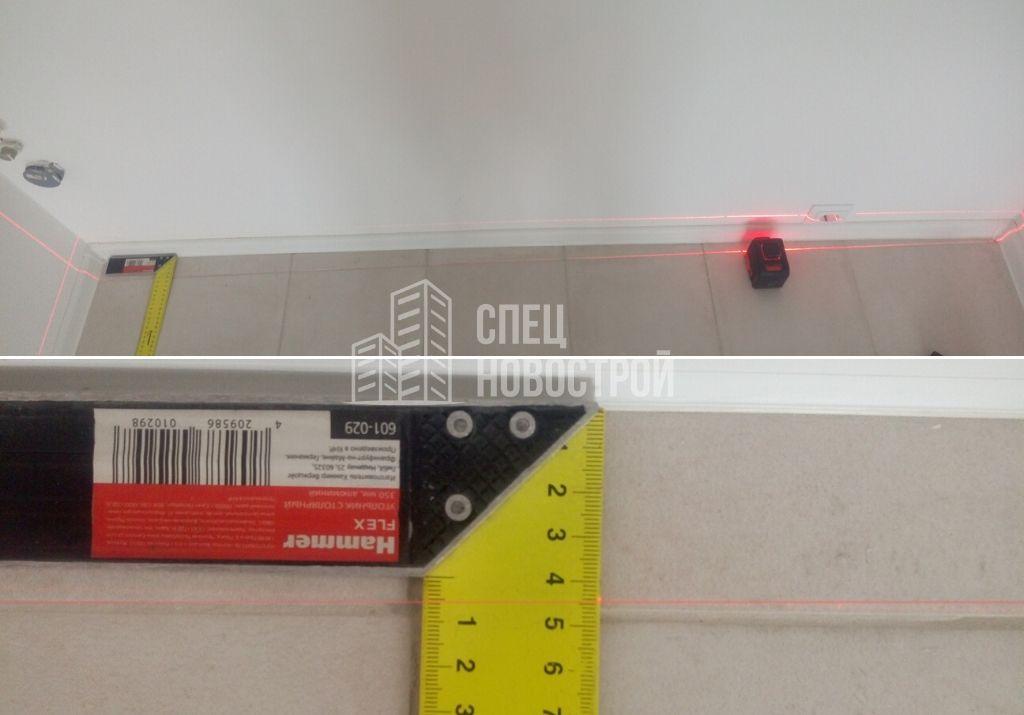 смещение от разбивочной оси перегородки сантехнического короба 45 мм