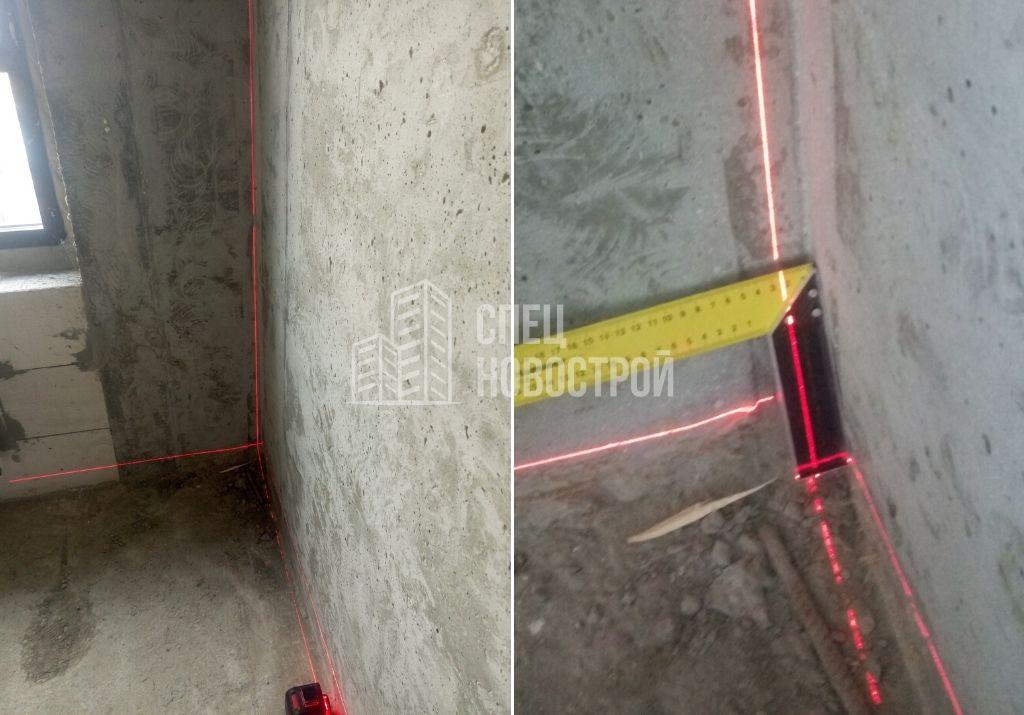 отклонение монолитной стены 25 мм