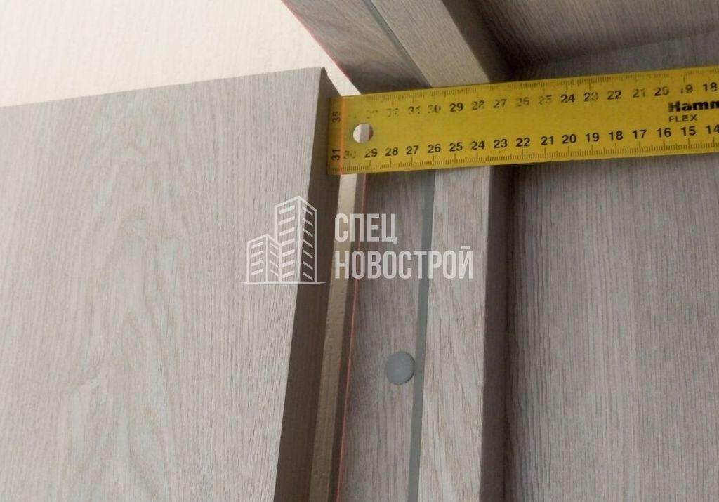 отклонение дверного полотна от вертикали 6 мм