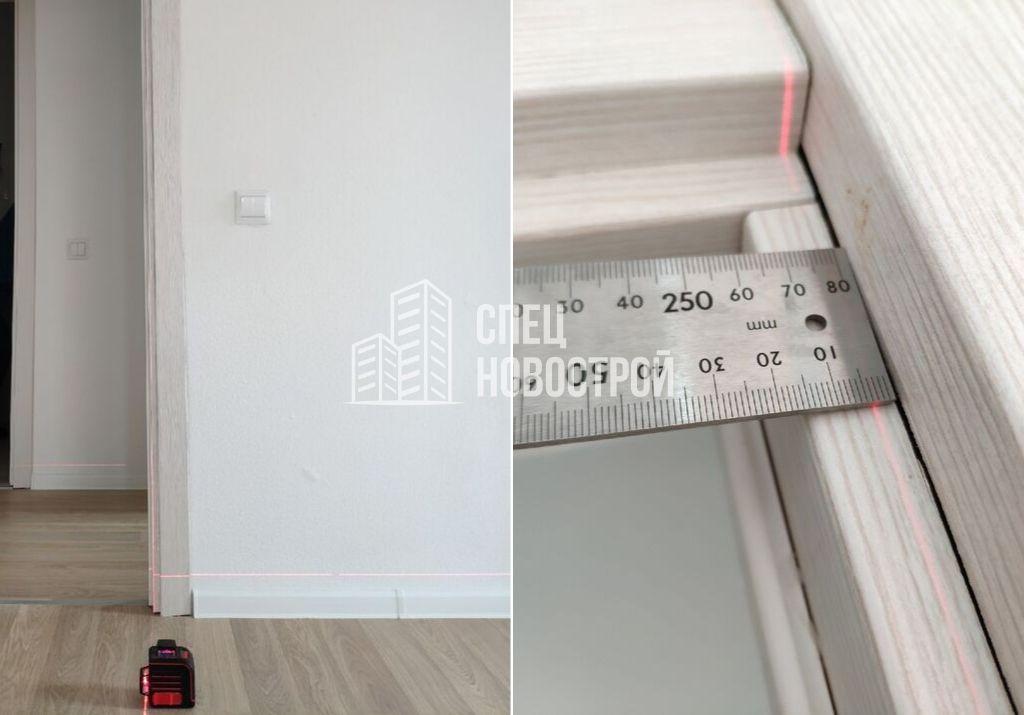 отклонение дверной коробки межкомнатной двери 10 мм