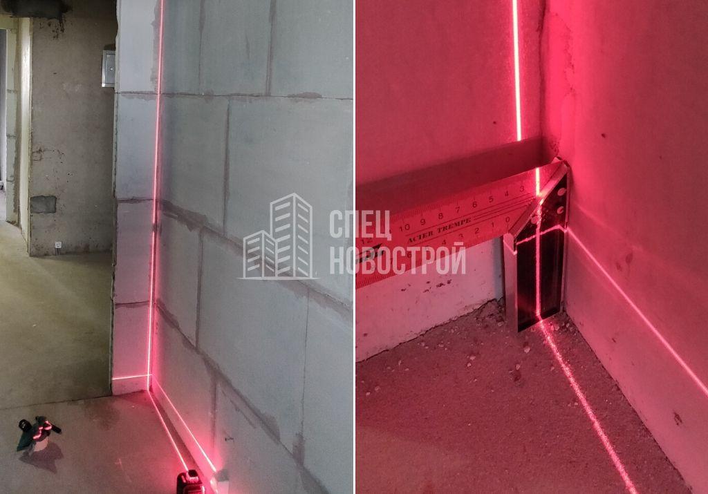 отклонение стены из ПГП от вертикали 25 мм