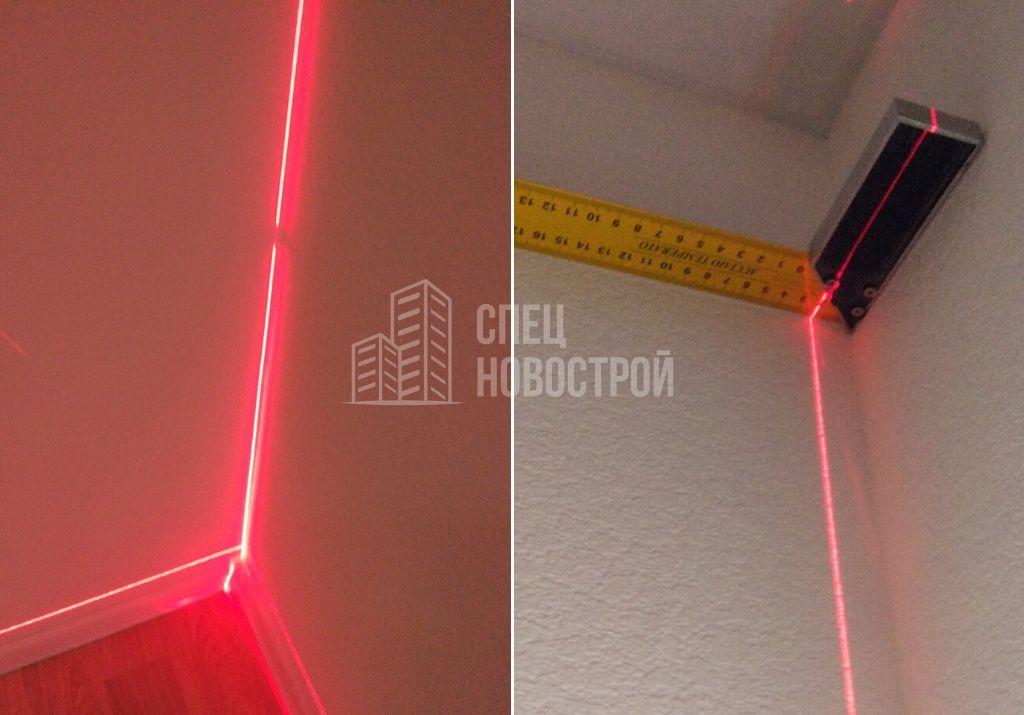 отклонение стены от вертикали 20 мм
