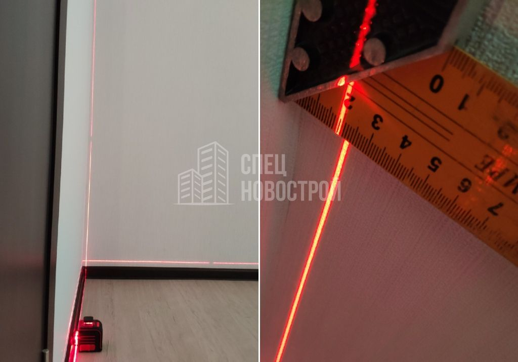 отклонение перегородки от вертикали 20 мм