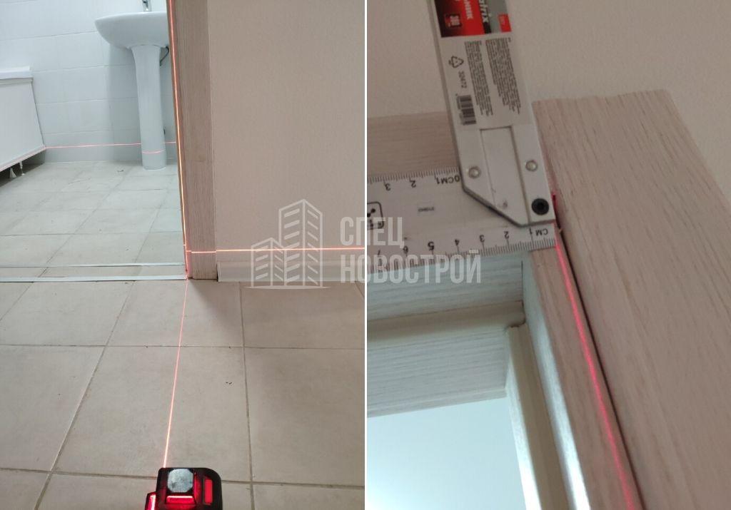 отклонение дверной коробки санузла от вертикали 12 мм