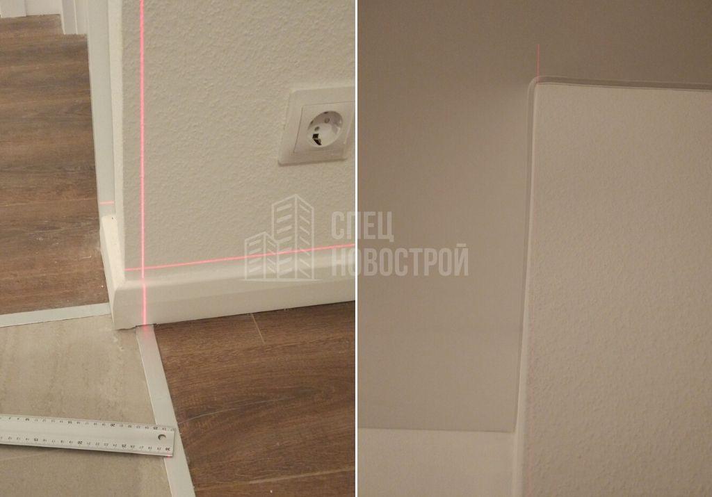 отклонение стены от вертикали 25 мм
