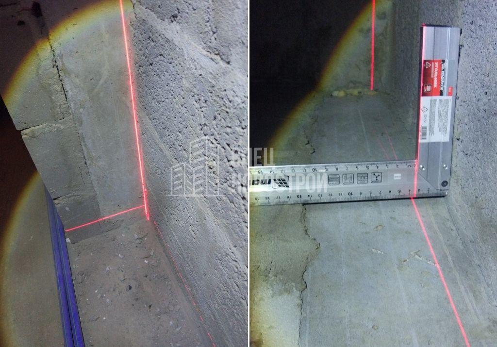 отклонение стены от вертикали 35 мм