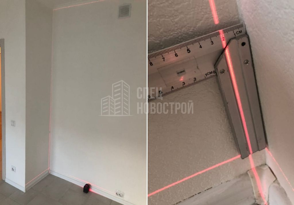 отклонение стены от вертикали 21 мм