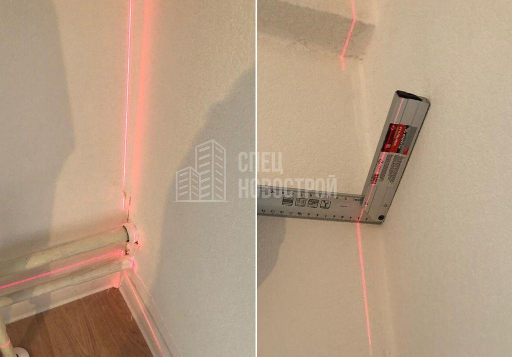 отклонение стены от вертикали 28 мм