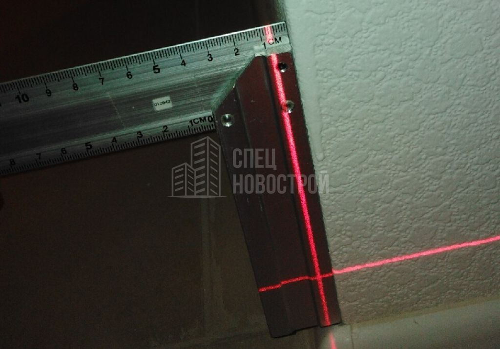 отклонение откоса от вертикали 7 мм