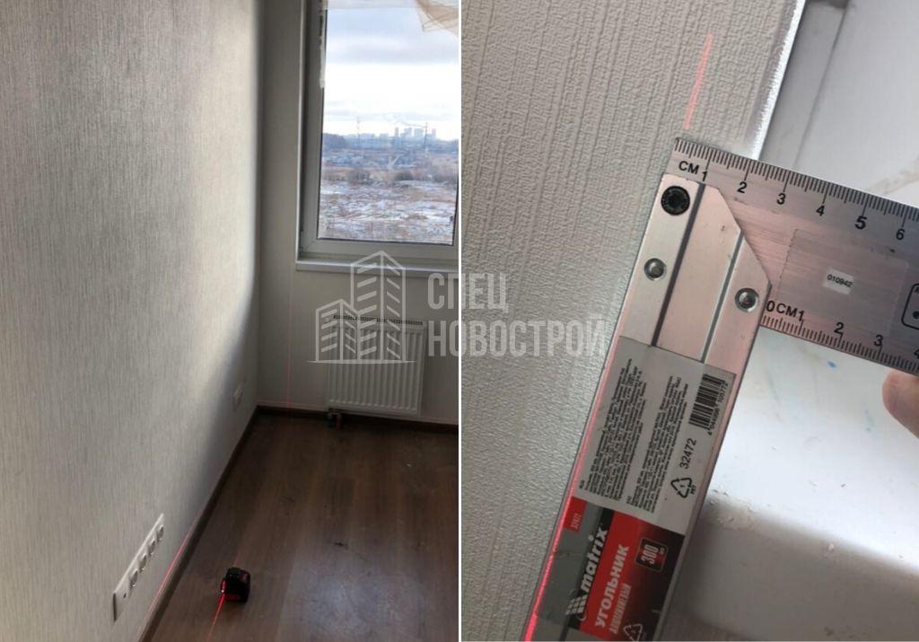 отклонение откоса оконного блока от вертикали 20 мм