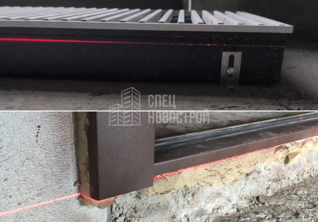 отопительный прибор расположен выше уровня порожка входной двери (чистового пола)