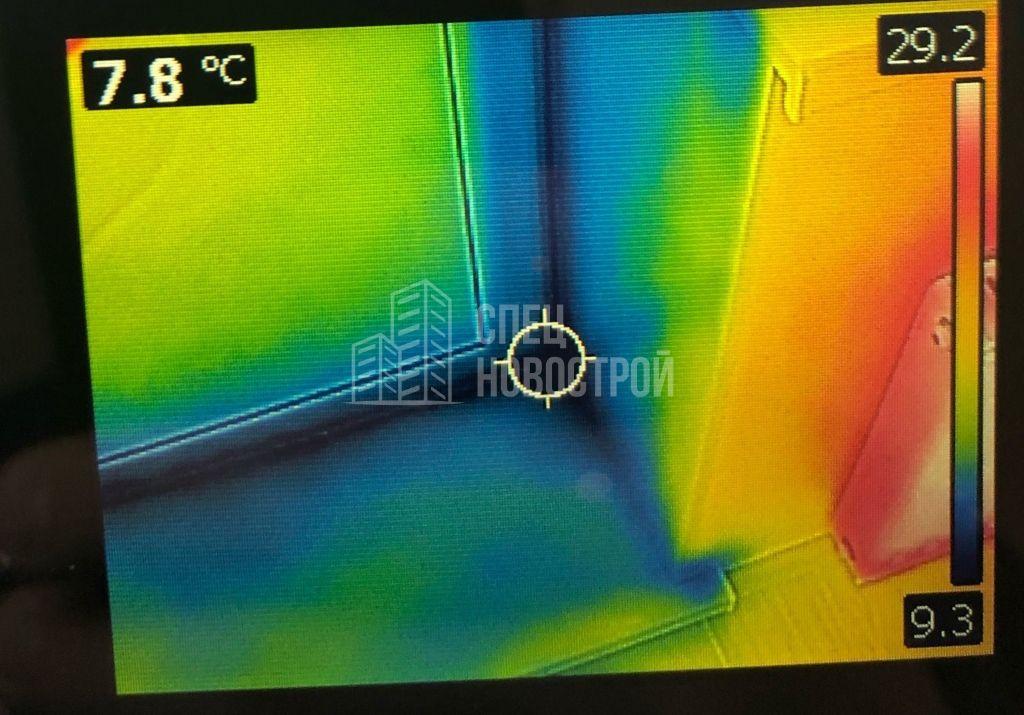 инфильтрация наружного воздуха из-под уплотнителей балконной двери
