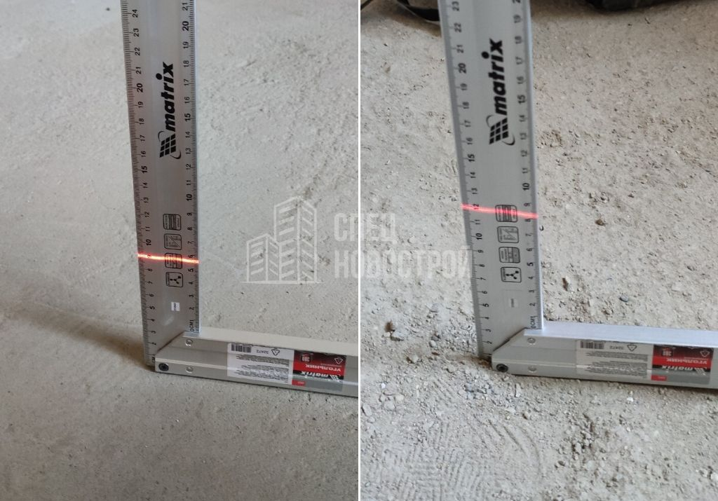 перепад уровня стяжки 30 мм на 2 метра