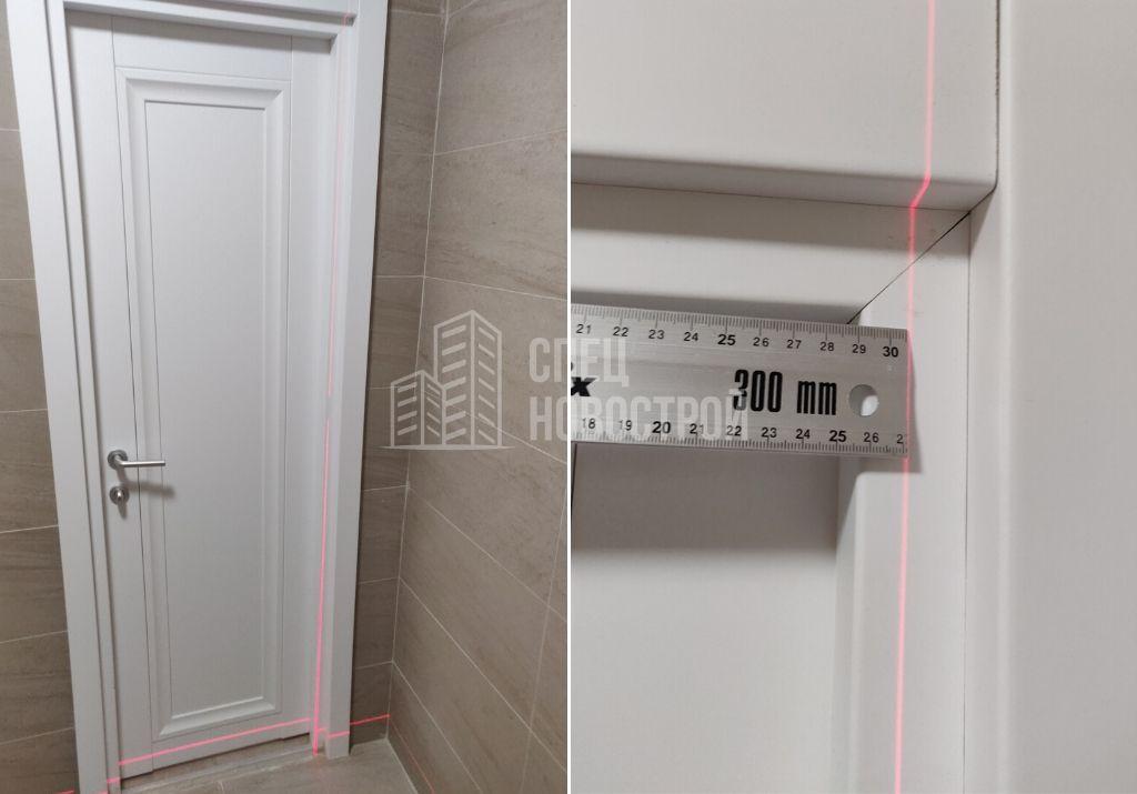 отклонение дверной коробки межкомнатной двери от вертикали 15 мм