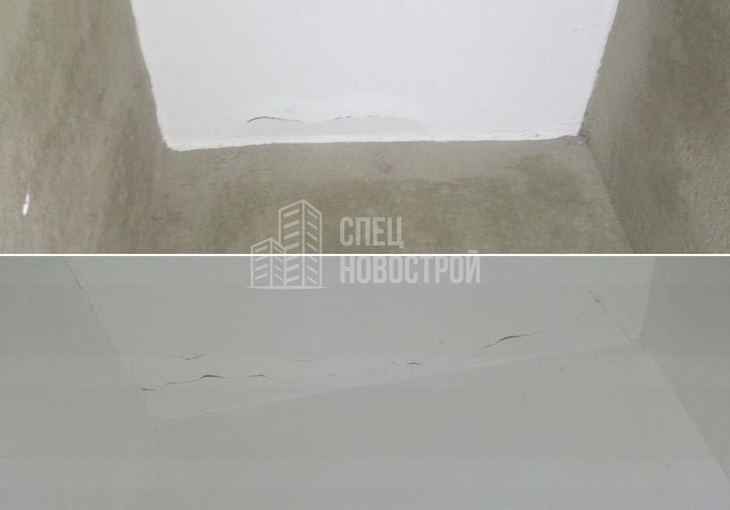 трещины и отслоение шпаклевки на потолке