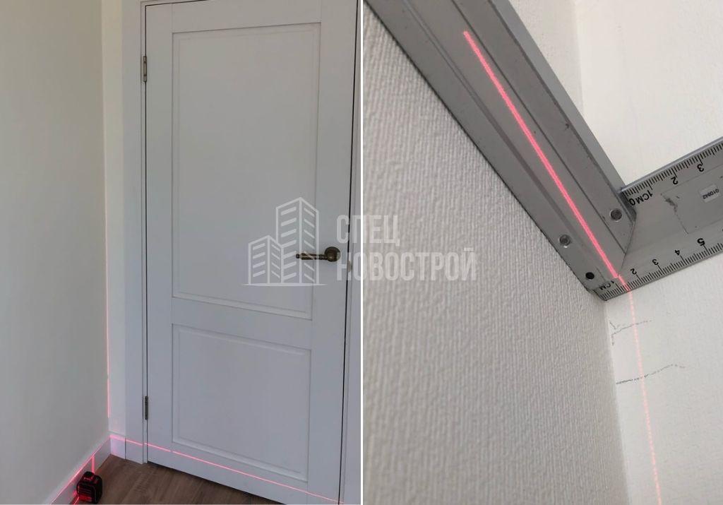отклонение стены от вертикали на 13 мм