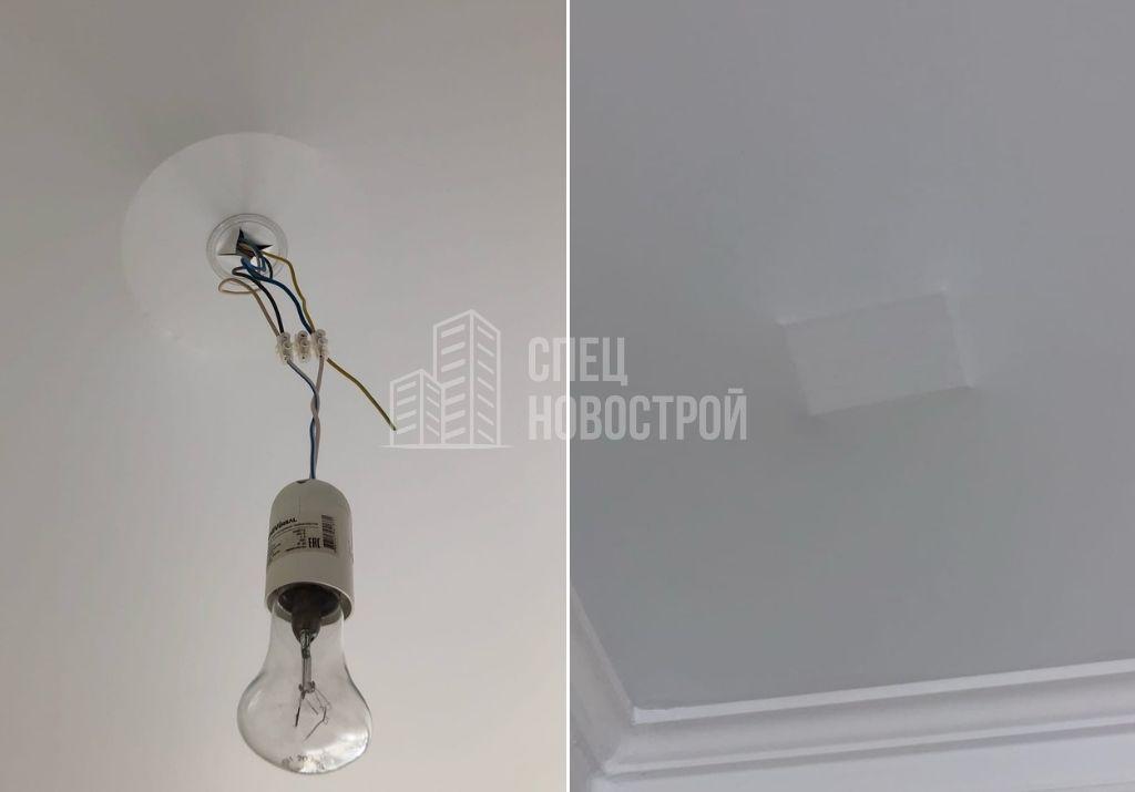 втягивание полотна натяжного потолка в помещениях всей квартиры