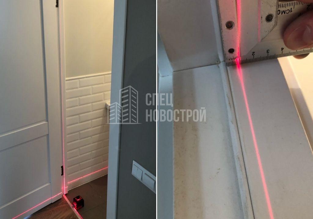 отклонение дверного короба от плоскости стены на 9 мм