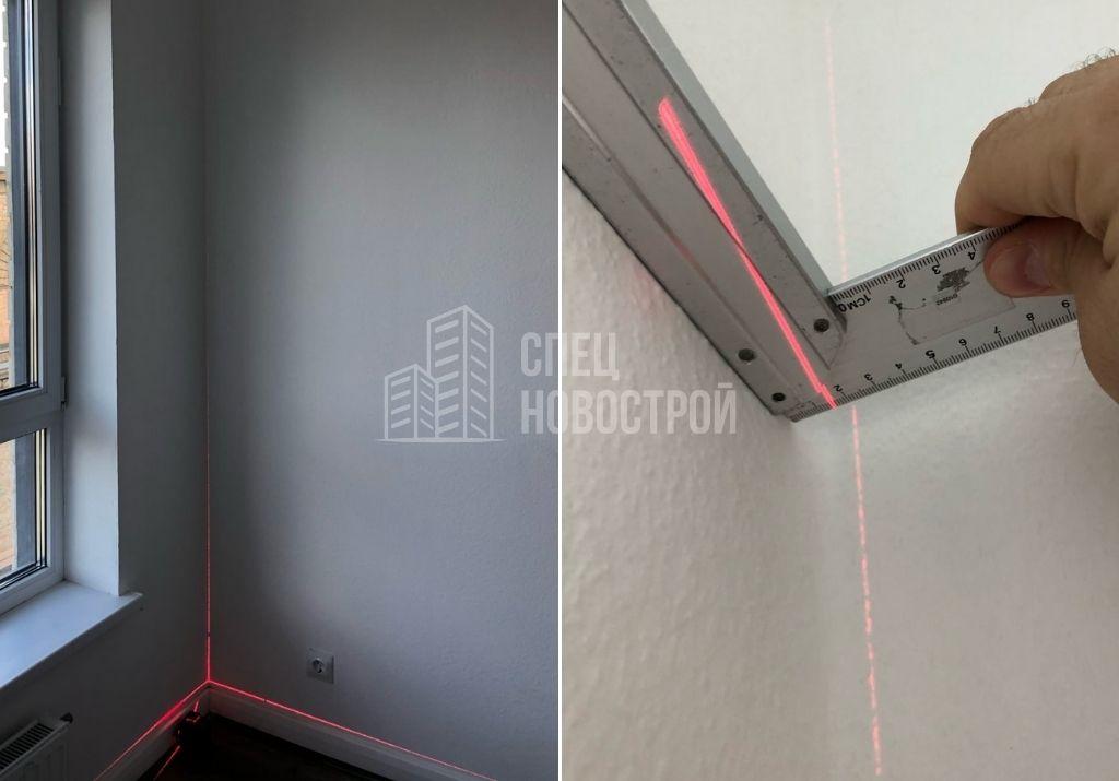 отклонение стены от вертикали на 15 мм