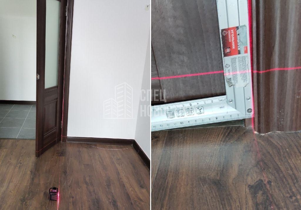 отклонение уровня рамы межкомнатной двери от вертикали на 10 мм