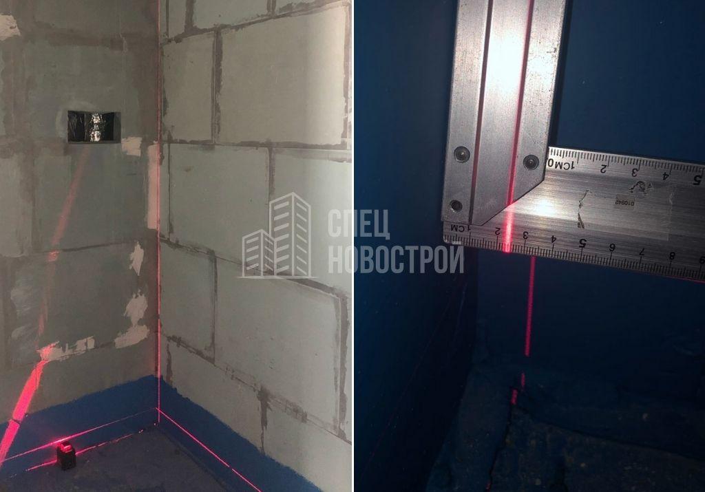 отклонение стены сантех. короба санузла от вертикали на 24 мм
