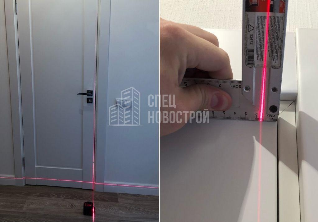 отклонение короба межкомнатной двери от вертикали на 15 мм
