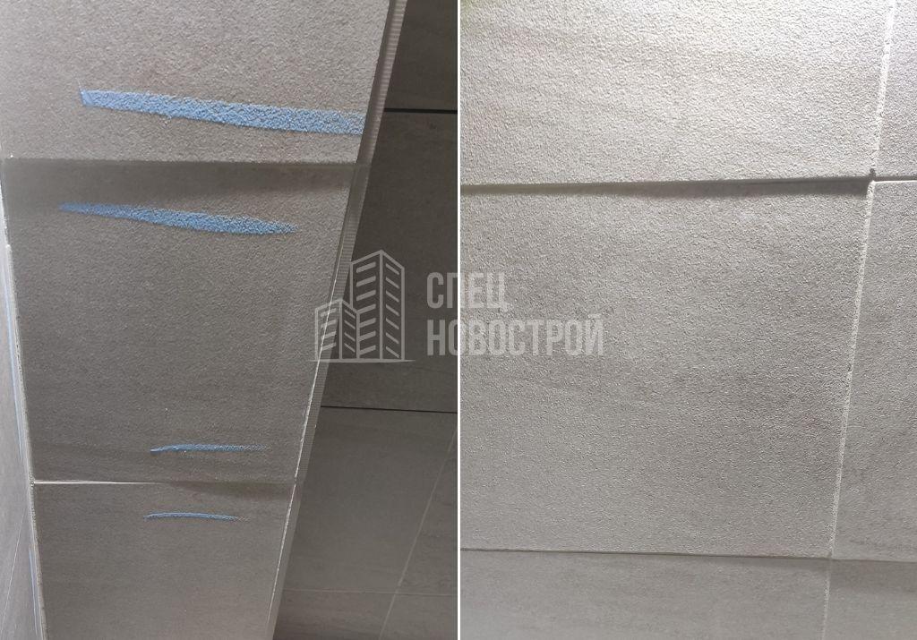 уступы между смежными элементами настенной плитки