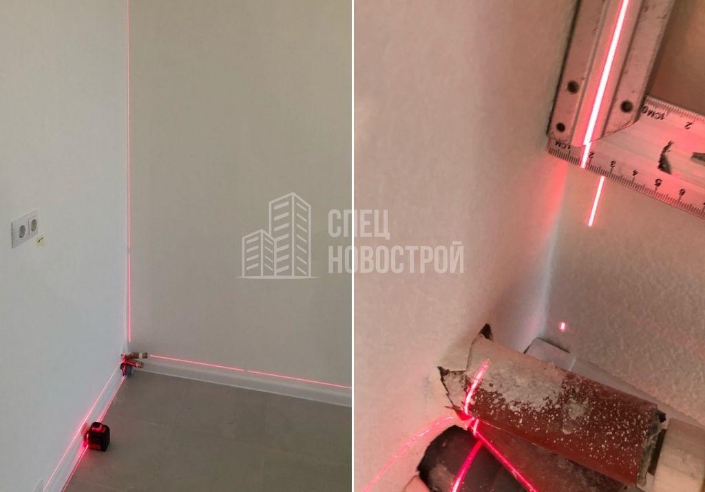 отклонение стены кухни от вертикали на 18 мм