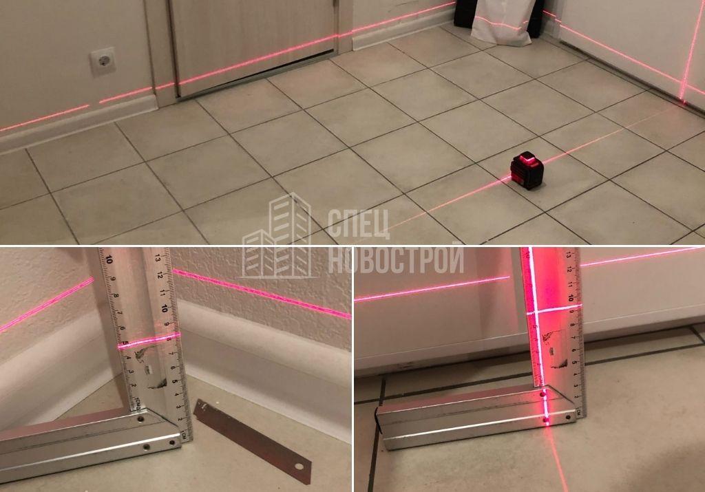 перепад уровня пола коридора на 13 мм