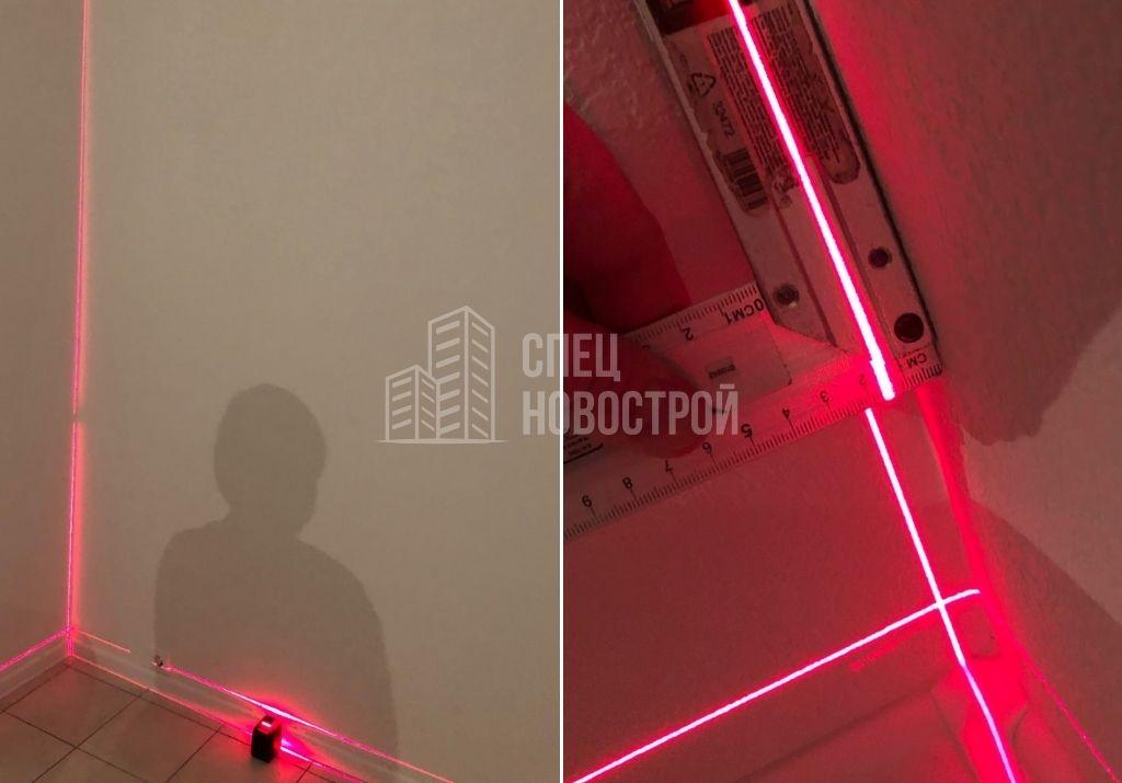 отклонение стены кухни от вертикали на 15 мм