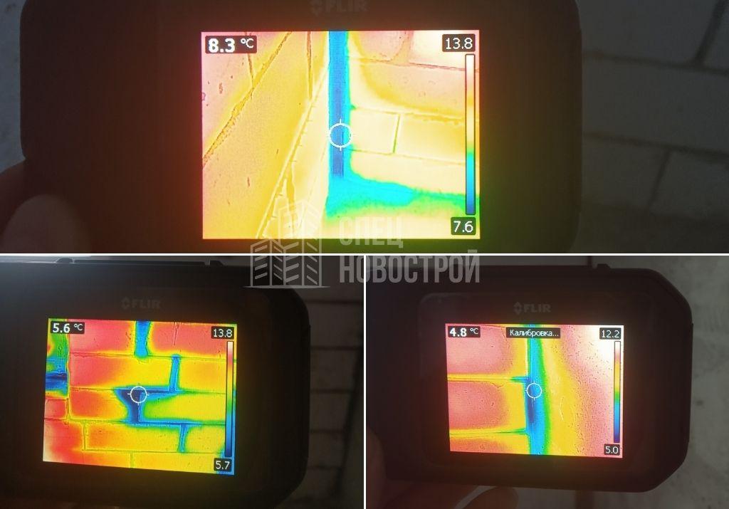 инфильтрация наружного воздуха из под швов межблочной кладки