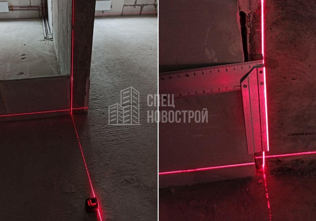 отклонение монолитной конструкции от вертикали на 20 мм