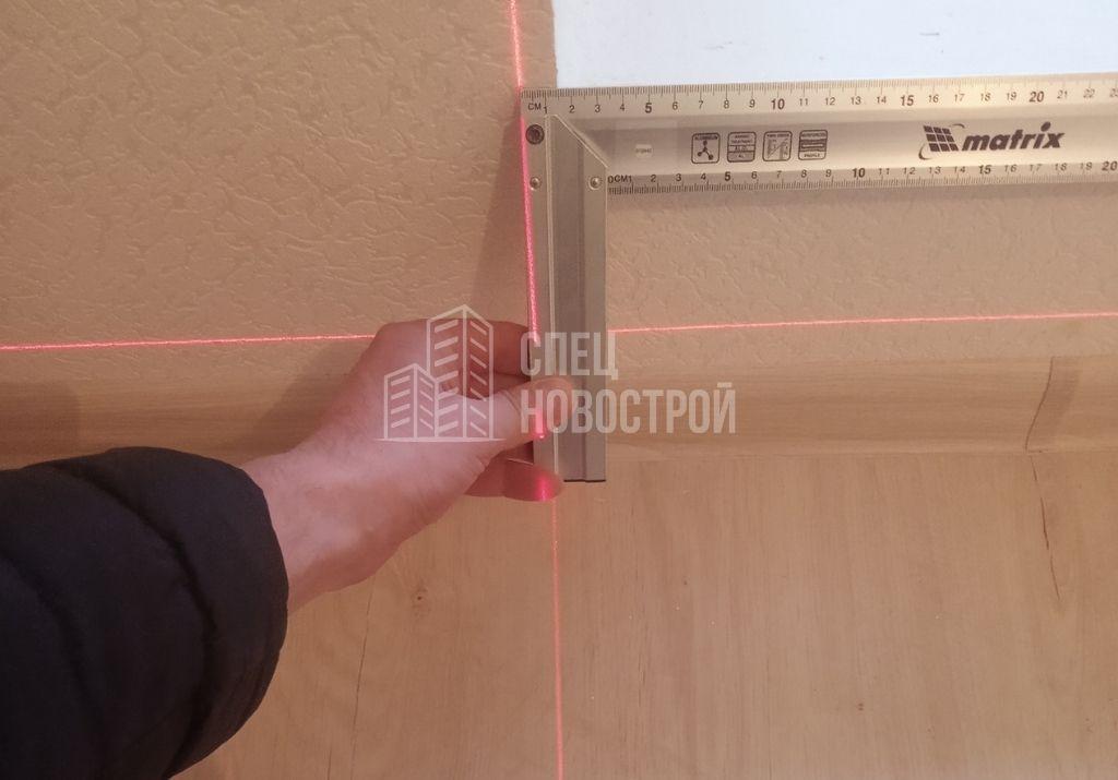 отклонение стены от вертикали на 14 мм