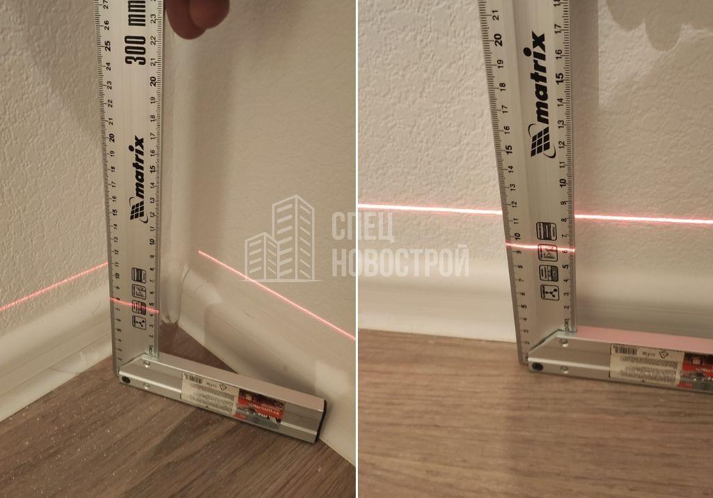 перепад уровня пола на 16 мм