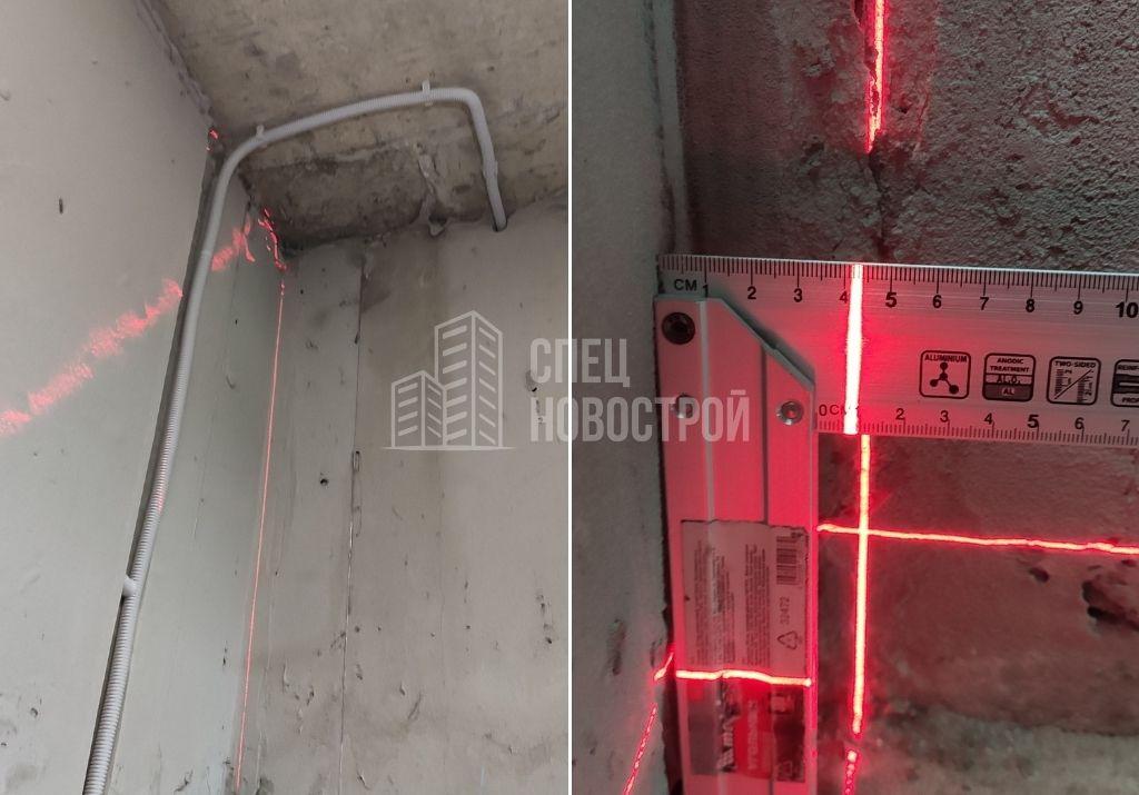 отклонение стены от вертикали на 42 мм