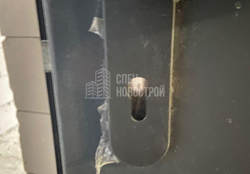 отсутствует личинка нижнего замка полотна входной двери