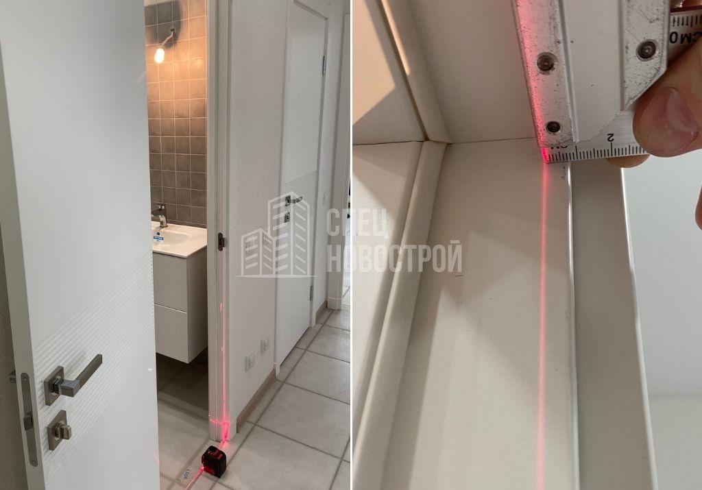 отклонение короба межкомнатной двери от вертикали на 7 мм
