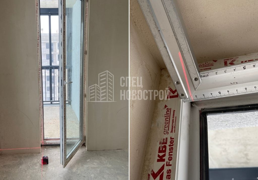 отклонение балконного блока от вертикали на 13 мм