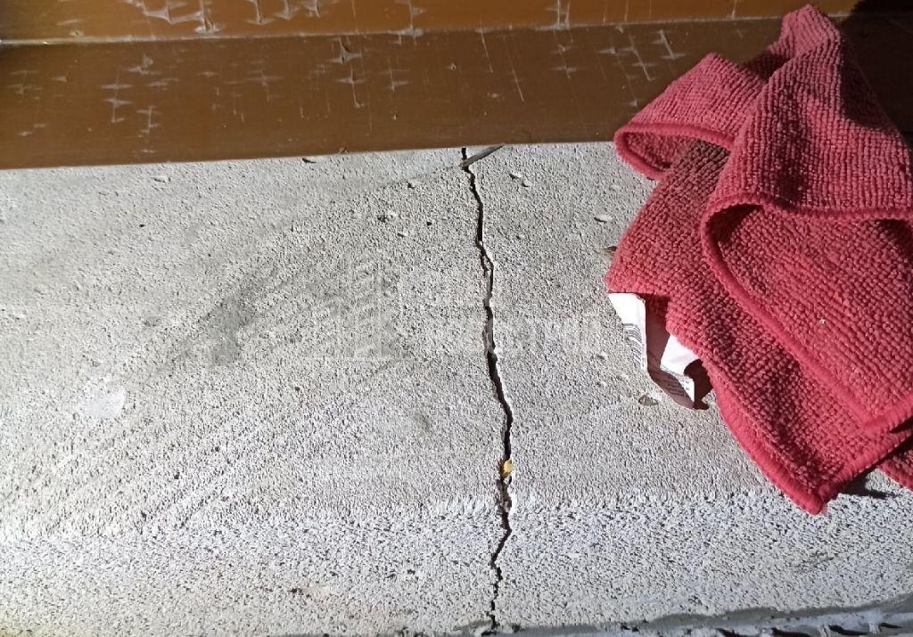 трещина пеноблока фасадной стены