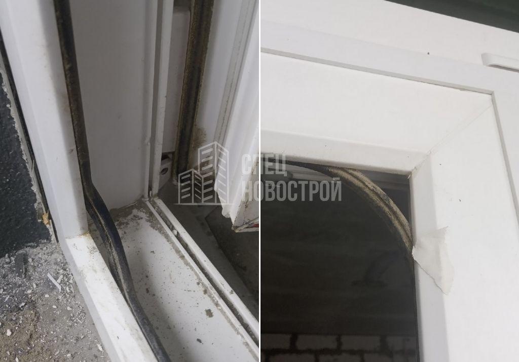 уплотнители балконной двери не вставлены в паз
