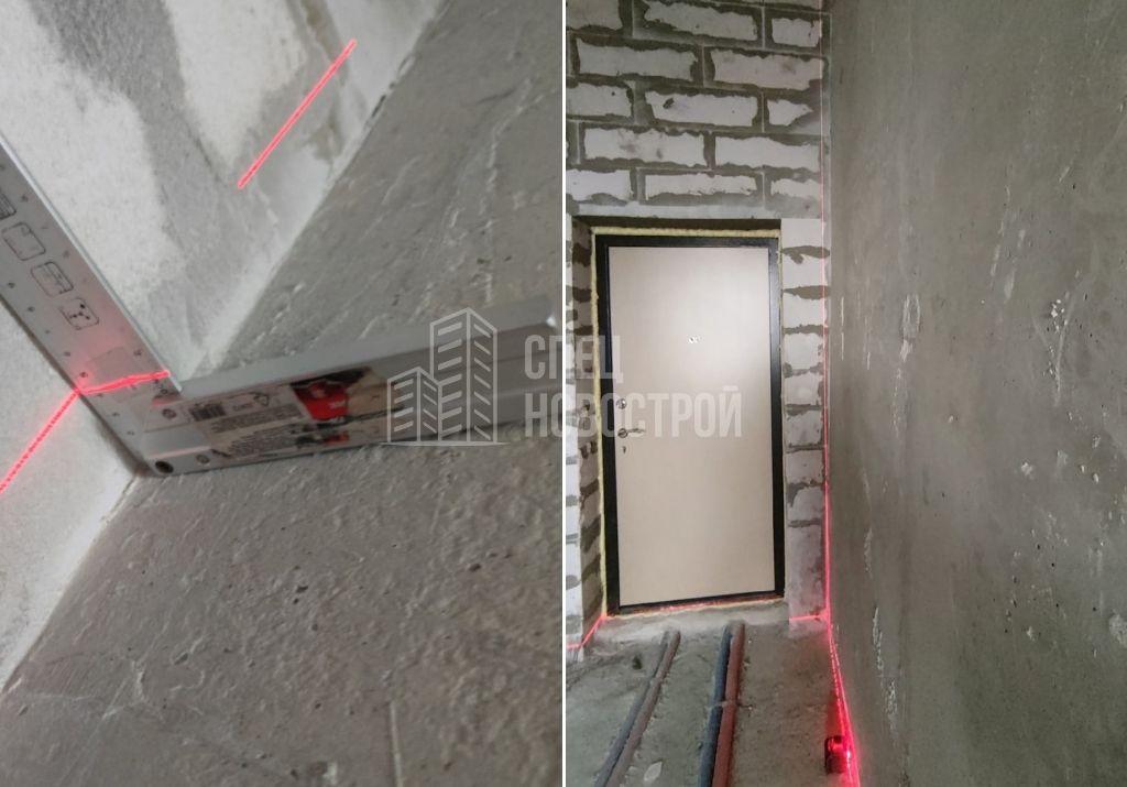 отклонение стены от вертикали на 40 мм