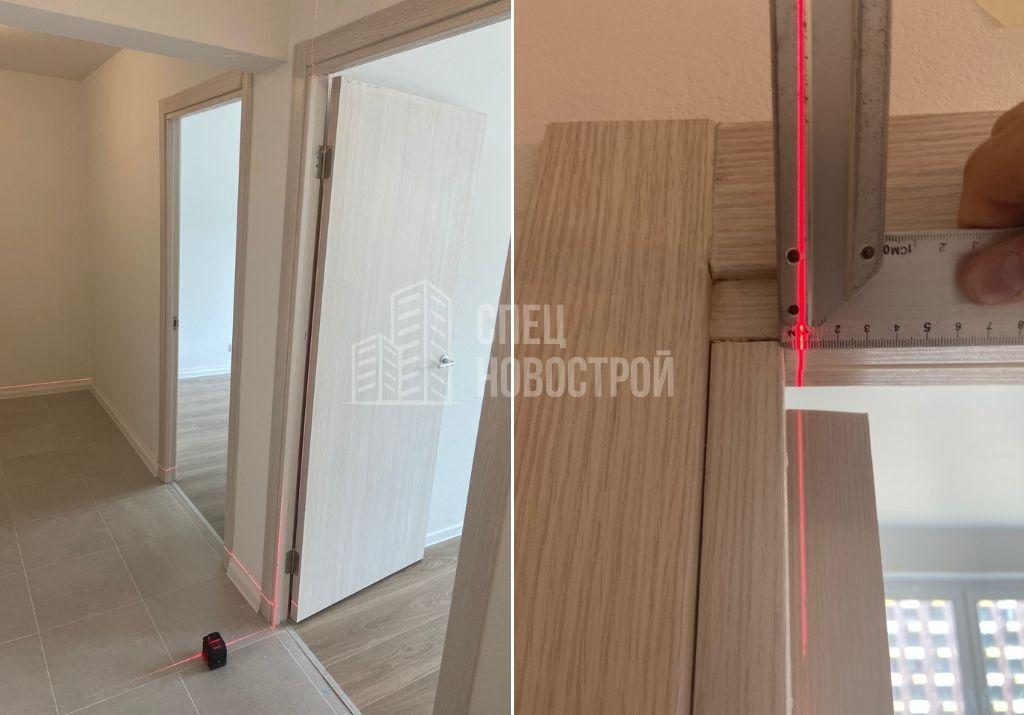 отклонение короба межкомнатной двери от вертикали на 6 мм